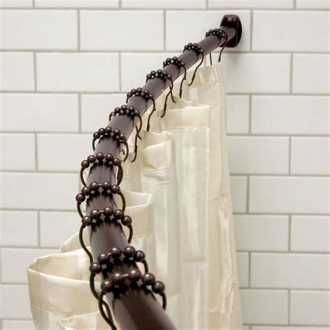 48 curved shower curtain rod pin by rebecca fralich on bathrooms pinterest