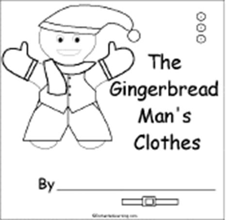 printable gingerbread man clothes chart graphic organizer printouts enchantedlearning book