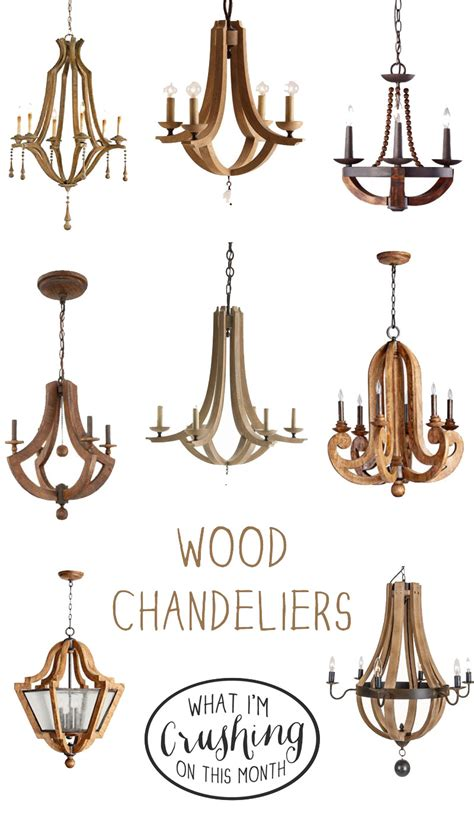 Wood Chandelier Lighting What I M Crushing On Wood Chandeliers Stacy Risenmay