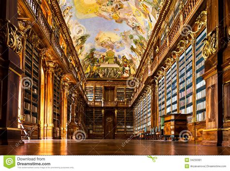 Old Victorian House Floor Plans Strahov Monastery Library Interior Stock Image Image