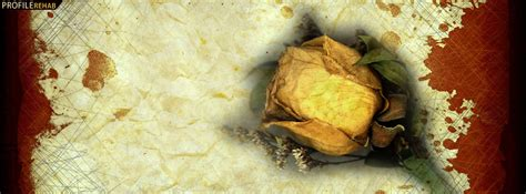grunge yellow rose facebook cover