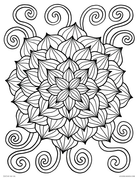 Awesome Coloring Sheets by Awesome Printable Abstract Flower Coloring Pages Design