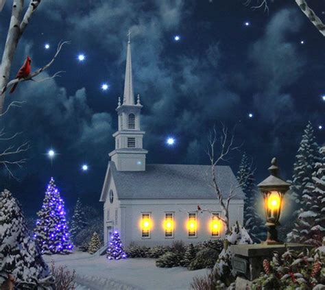 17 inch lighted church scene with colorful rice lights 1000 images about winter on decor and snowman