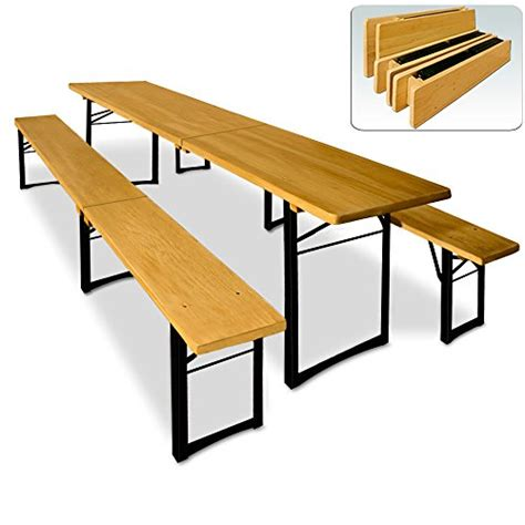 Folding Table And Bench Set Wooden Trestle Table And Bench Set Folding Outdoor Dining Furniture Set 220x50x75cm Table