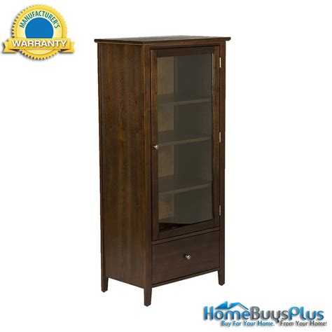 cd cabinet with glass doors geneva espresso media tower storage cabinet cd dvd glass door ebay