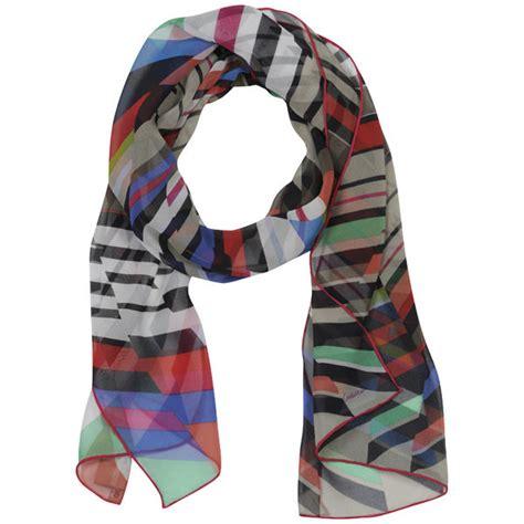 Limited Editions 7753 Silk Zigzag codello graphic zig zag stripes scarf womens