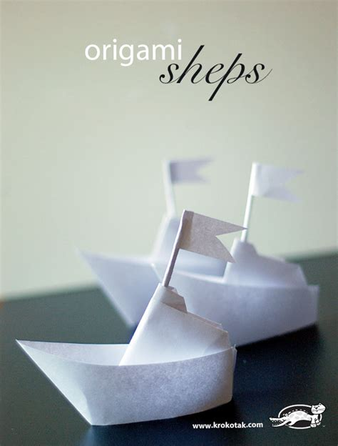 Origami Ships - krokotak origami ship