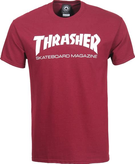 thrasher skate mag t shirt maroon free shipping