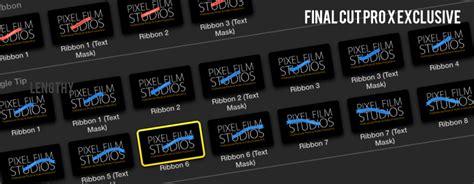 pixel film studio fcpx plugins free