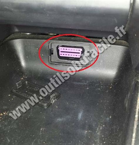 Diagnostic Port In Car by Obd2 Connector Location In Seat 1999 2006