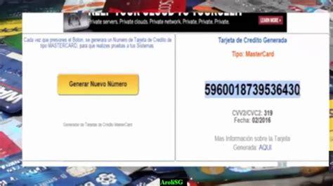 numeros de tarjetas de credito 2016 actualizado como generar tarjeta de credito sin programas