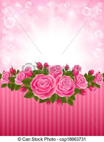 vectores de fondo rosa y illustraciones libre de derechos vectores de rosas fondo vector ilustraci 243 n de un