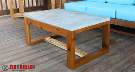Diy Patio Table Top Diy Concrete Top Outdoor Coffee Table Fixthisbuildthat