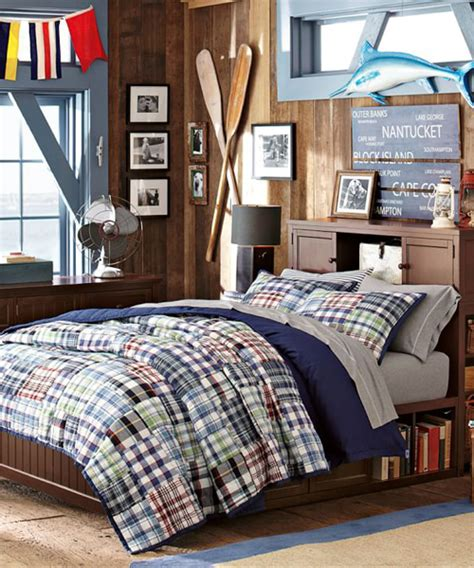 Boy Quilts Bedding by Boys Quilt Set Madras Plaid Quilt Bedding