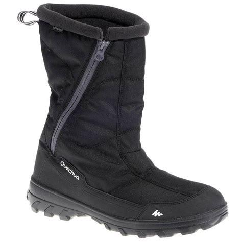 warm boots arpenaz 500 warm s snow boots black decathlon