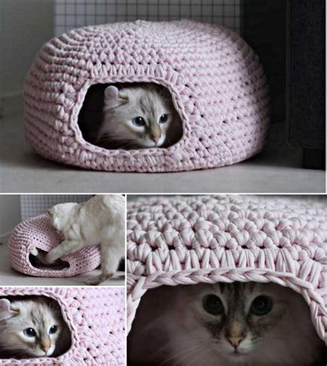 crochet pattern cat cave cool creativity diy crochet cat cave