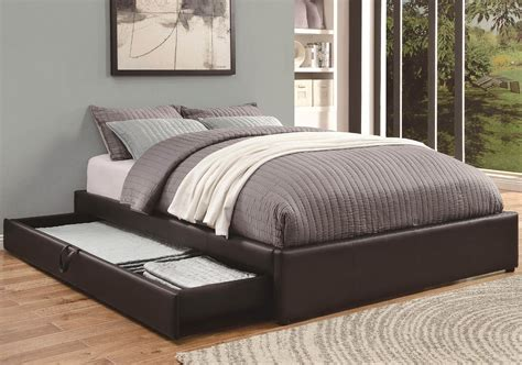 queen bed with pull out bed underneath bed with drawers modern design