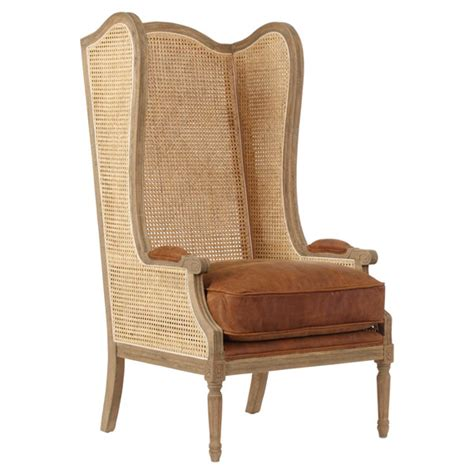 high wing back armchair deauville high back wing armchair oka