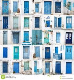 Different House Plans Collage Of Different Blue Old Wooden Doors From Greek