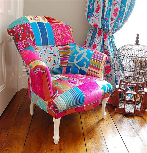 patchwork chairs mandalay patchwork chair by gb notonthehighstreet