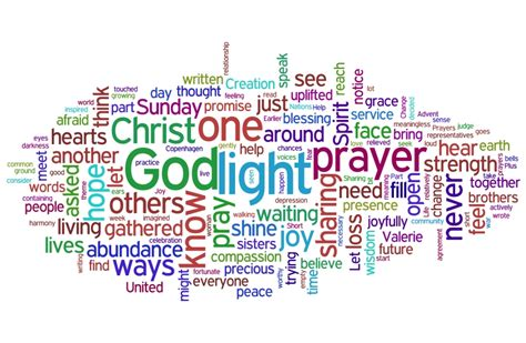 word cloud prayer let us go then you and i