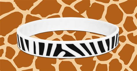 zebra printable wristbands add animal print to your next silicone wristband