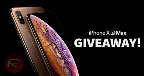 the iphone xs max giveaway enter to win apple s 2018 flagship for free redmond pie