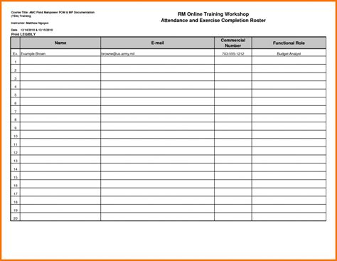 Sheet Templates Attendance Sign In Sheet 36 General Attendance Sheet Templates In Excel Alumni Database Template