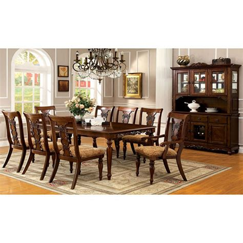 solid wood formal dining room sets seymour 9pc formal dining turned legs dark oak finish