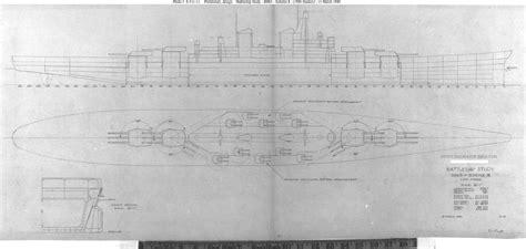 design blueprints usn ship types montana class bb 67 through bb 71