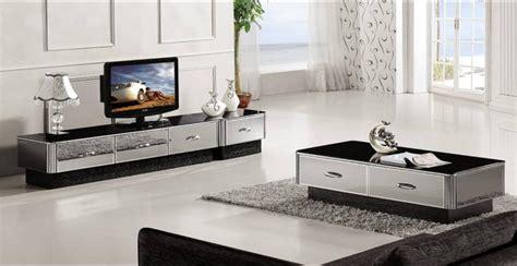 modern gray mirror modern furniture coffee table tv