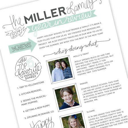 Family Newsletter Template By Jamie Schultz Designs Christmas Pinterest Newsletter Family Newspaper Template