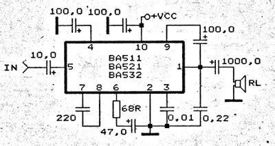 Ic Ba532 car lifier circuit with ic ba532 subwoofer bass lifier