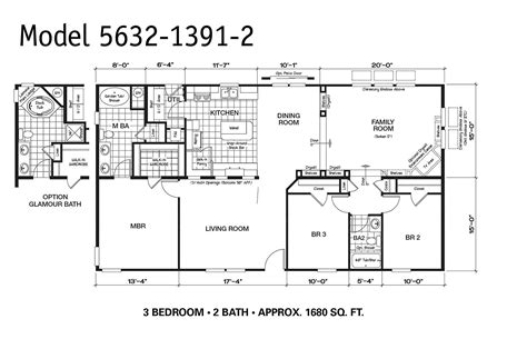 Oakwood Mobile Home Floor Plans | 1997 oakwood mobile home floor plan modern modular home
