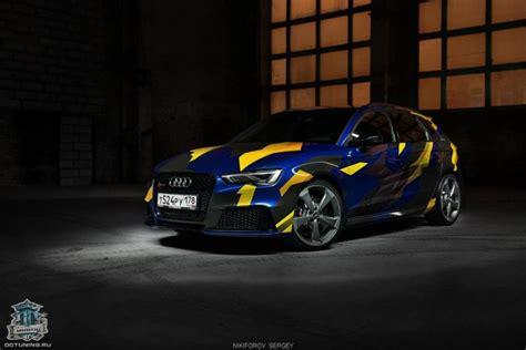 Camouflage Folie Gelb by Warum Nicht Blau Gelb Camouflage Folierung Am Audi Rs3