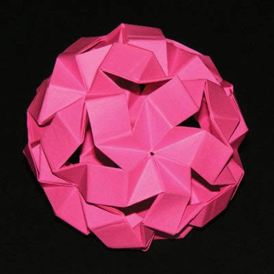 Hull Origami - origami bouncy unit icosahedron tom hull ez origami