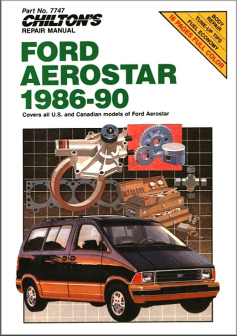 ford aerostar repair manual 1986 1990 chilton