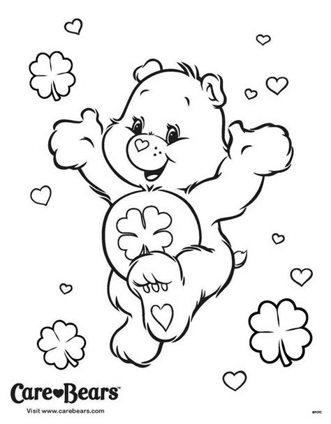 coloring pages luck luck coloring page care bears