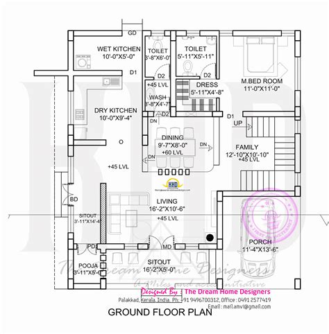 house designs floor plans flat roof house plan and elevation kerala home design and floor plans