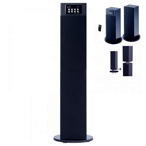 stereo home theater tower convert speaker system w