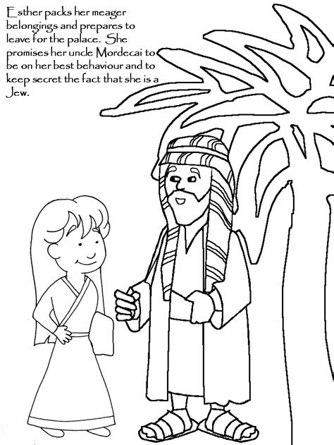 coloring pages esther story of esther for children coloring home