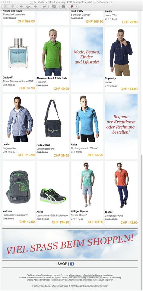 Brief Massenversand Schweiz Spam Fashionfriends Newsletter Und Lauterkeitsrecht