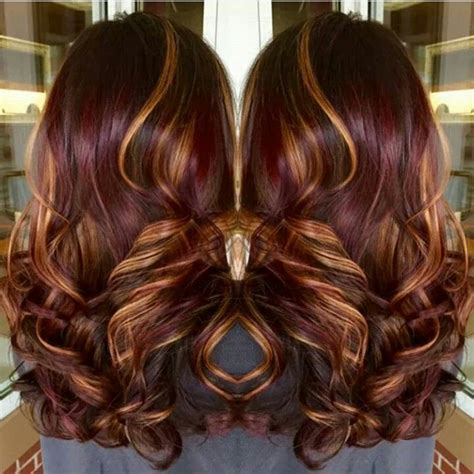 burgandy caramel and brown highlights best 25 burgundy hair highlights ideas on pinterest