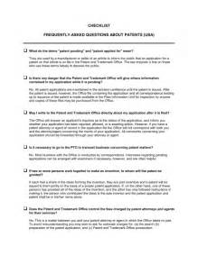 faq template word checklist faq about patents template sle form