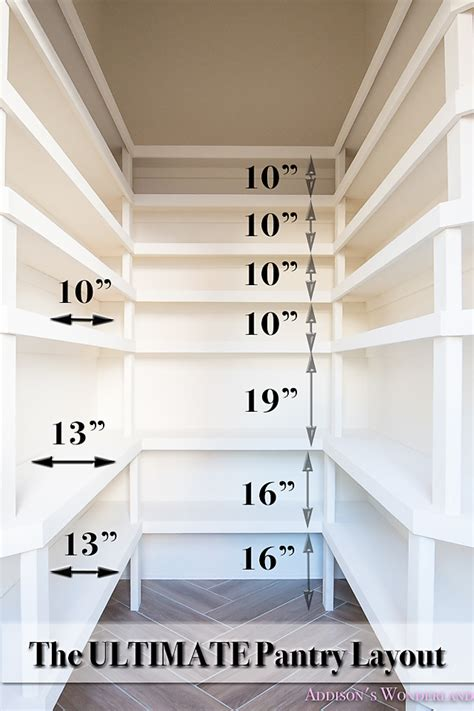 shelving layout pantry shelving built in organization ideas shelf distance