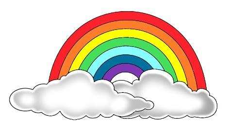 Pictures Of Rainbows To Color by How To Color A Rainbow Step By Step