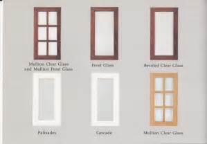 Cabinet doors options catalog scan
