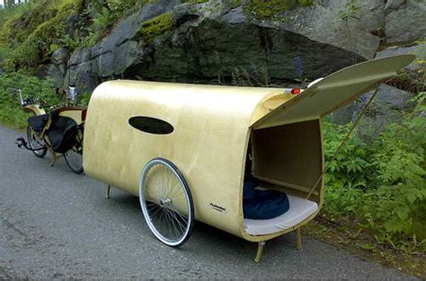 Bicycle Sleeper Trailer by Pedal Power Led Blinkers Getting Around Gas Prices