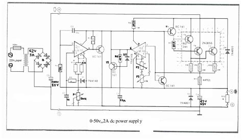 bench power supply circuit how to build 0 50v 2a bench power supply circuit diagram