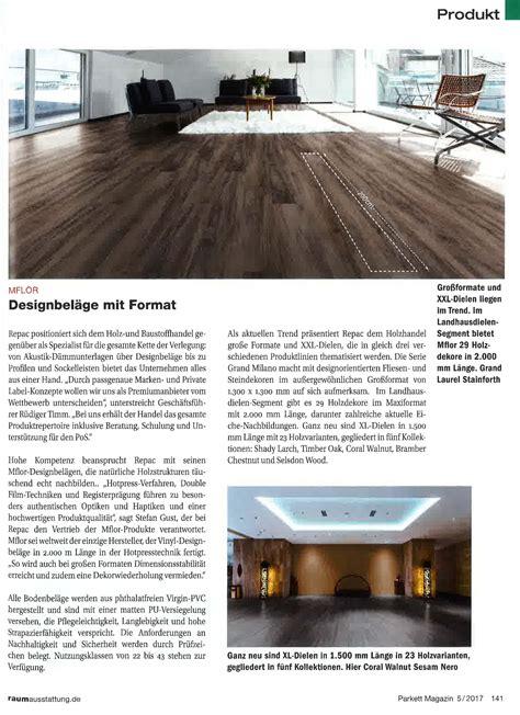 Parkett Magazine by Parkett Magazin 05 2017 Repac Montagetechnik Gmbh Co Kg